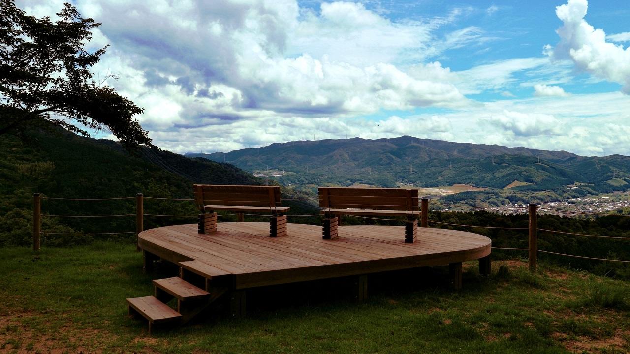 くつわ池自然公園 ハートの展望台