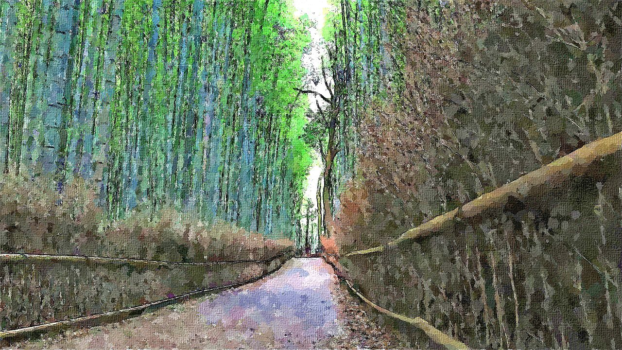 嵐山 竹林の小径